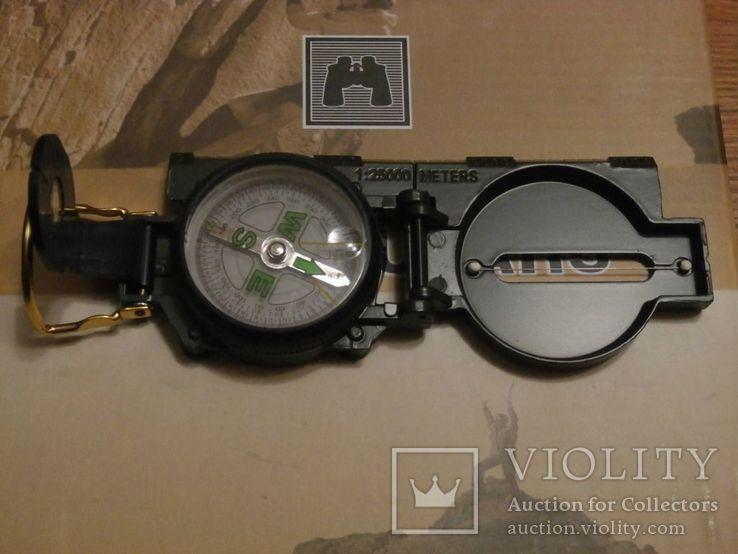 Армейский компас Lensatic (пластик, олива), фото №2