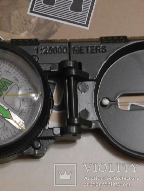 Армейский компас Lensatic (пластик, олива), фото №4