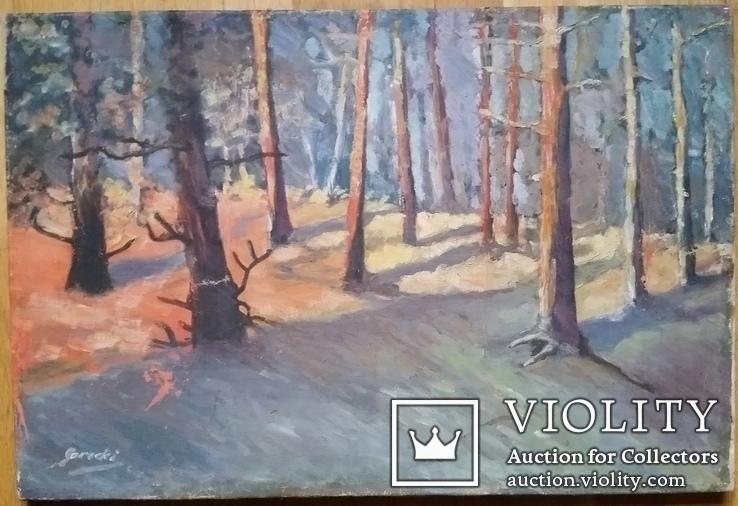 Картина 45х67,5 см, полотно, олія, фото №2