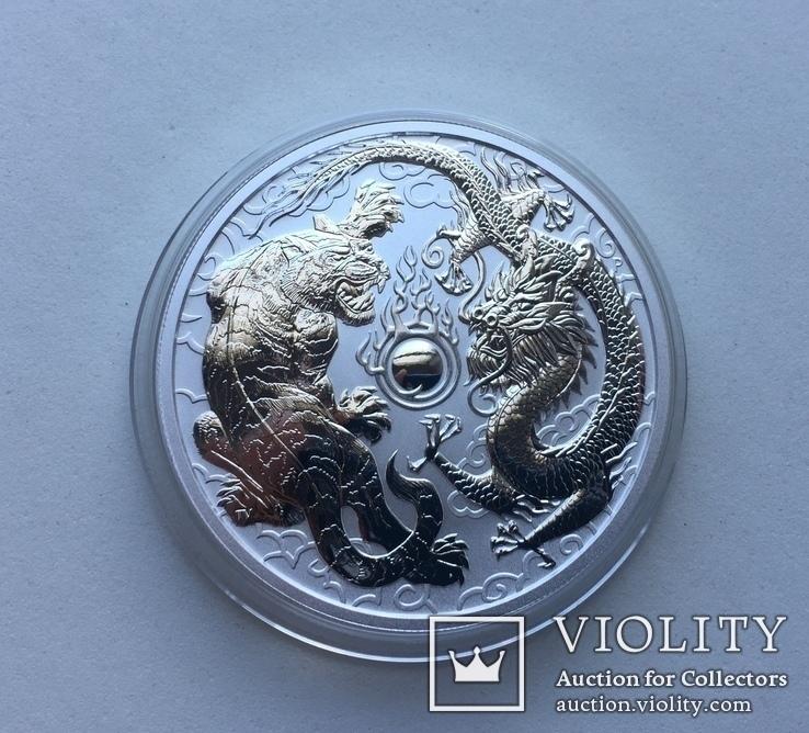 Дракон и Тигр 2018 Австралия Perth Mint, фото №2