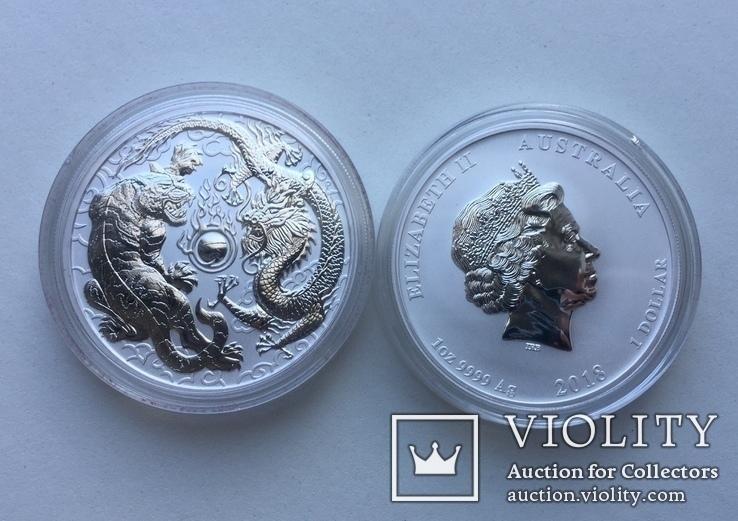 Дракон и Тигр 2018 Австралия Perth Mint, фото №9