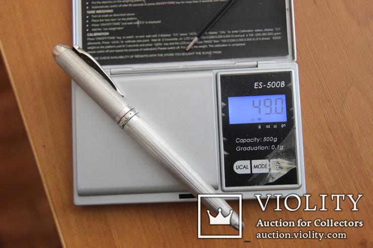 Montegrappa Senna, массивная статусная шариковая ручка,серебро, фото №3