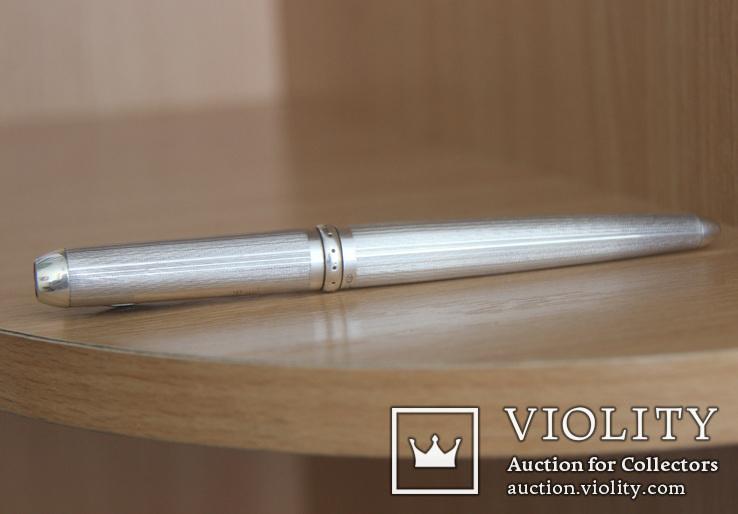Montegrappa Senna, массивная статусная шариковая ручка,серебро, фото №6