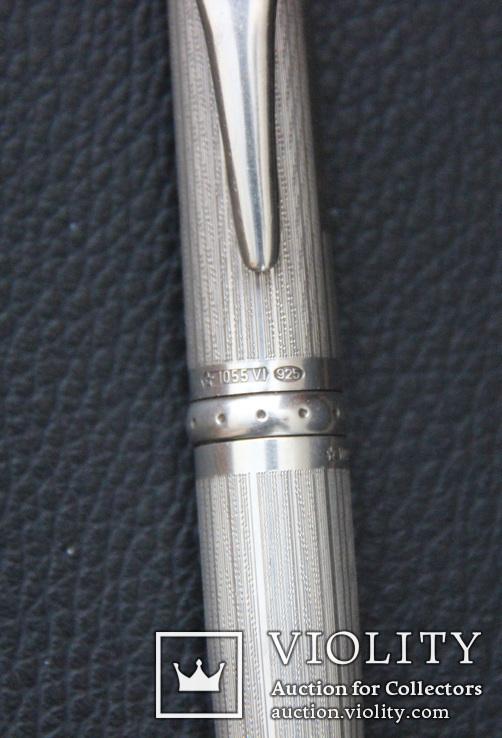 Montegrappa Senna, массивная статусная шариковая ручка,серебро, фото №8