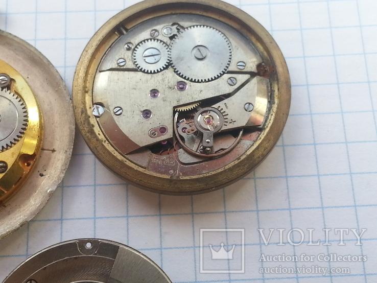 Механизмы швейцарских часов 5 шт., фото №5