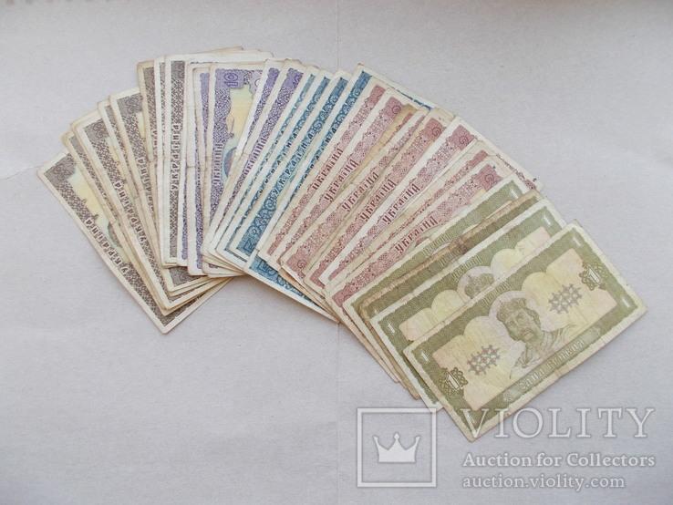 Подборка банкнот 1992 г.  37 штук.