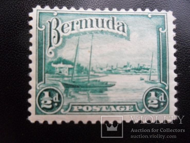 Корабли. Бермудские острова. Парусник. марка MH, фото №2