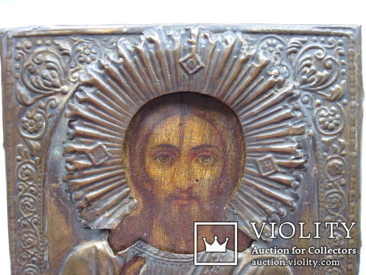 Икона Вседержитель в окладе 22 на 17 см, фото №3