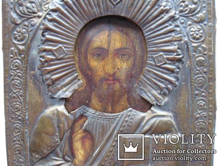 Икона Вседержитель в окладе 22 на 17 см, фото №4