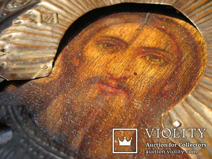 Икона Вседержитель в окладе 22 на 17 см, фото №13