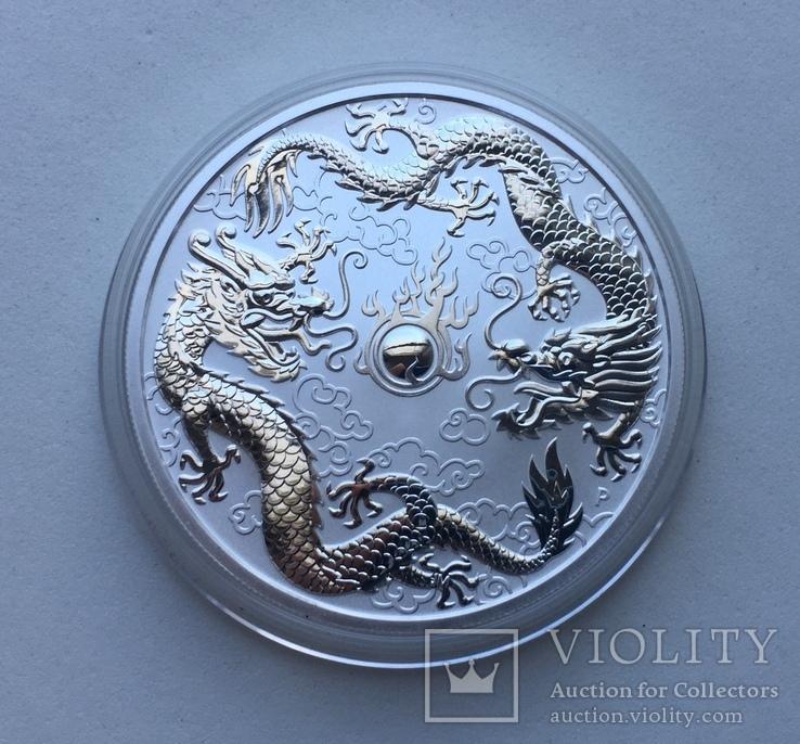 Два дракона 2019 Австралия Perth Mint, фото №2