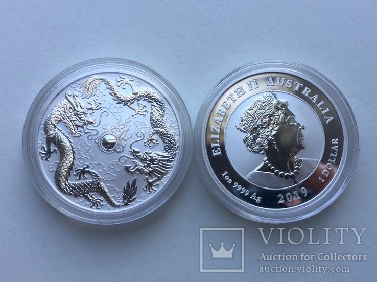 Два дракона 2019 Австралия Perth Mint Фен-Шуй, фото №9