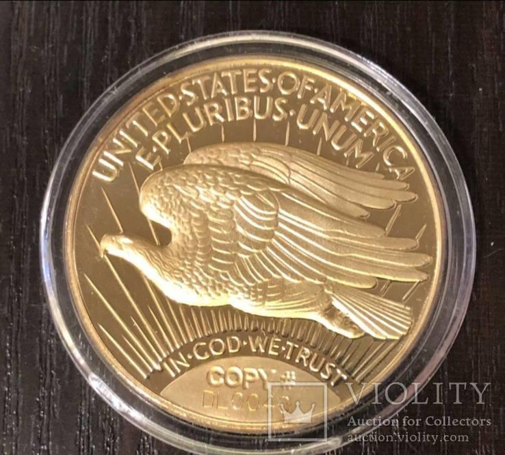 20 долларов Сент-Годенса 1933, копия, фото №2