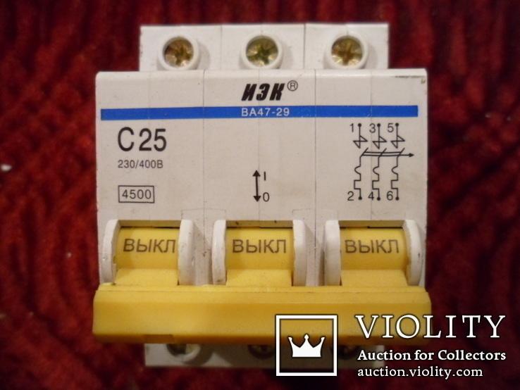 Автоматический выключатель. 25А., фото №2