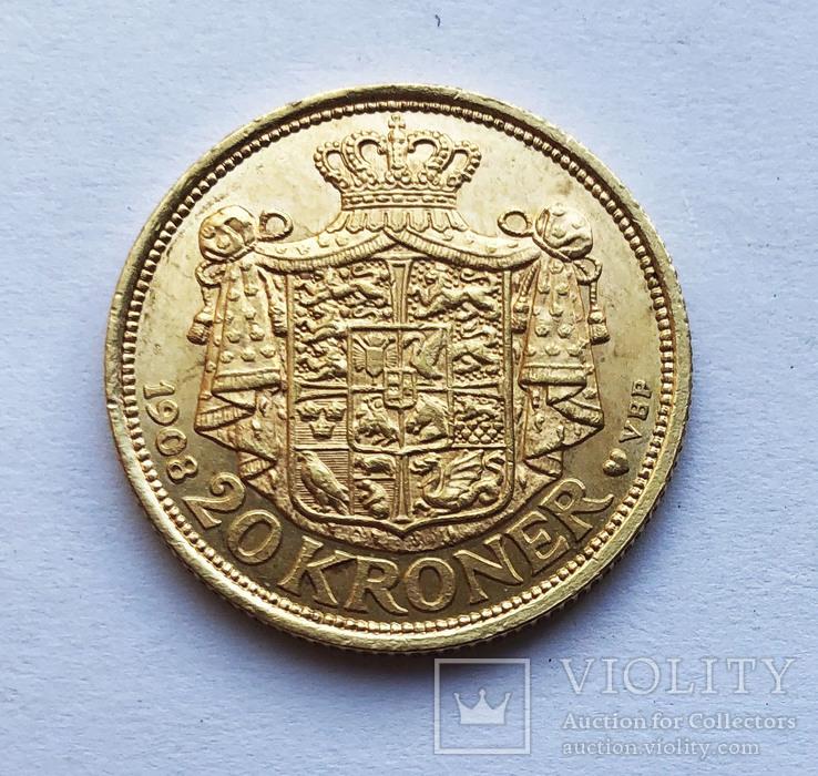 20 крон 1908 года. Дания.