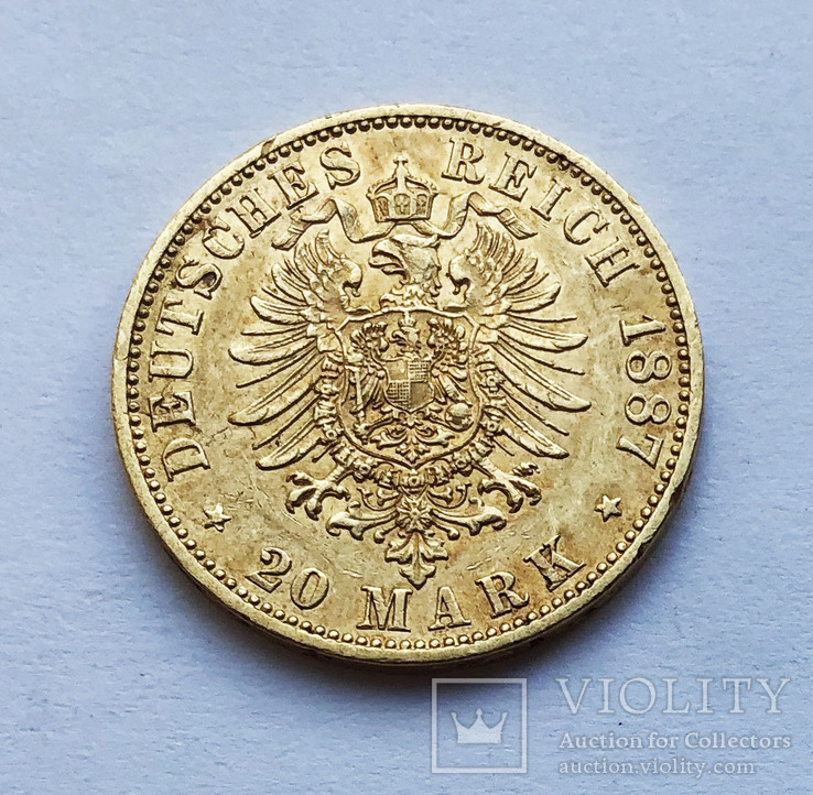 20 марок 1887 года. Пруссия.