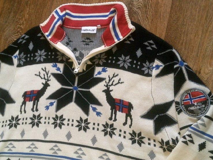 Nebulus - фирменный стильный теплый свитер разм.XXL, фото №2