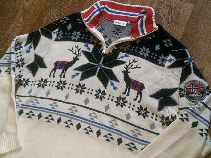 Nebulus - фирменный стильный теплый свитер разм.XXL, фото №3