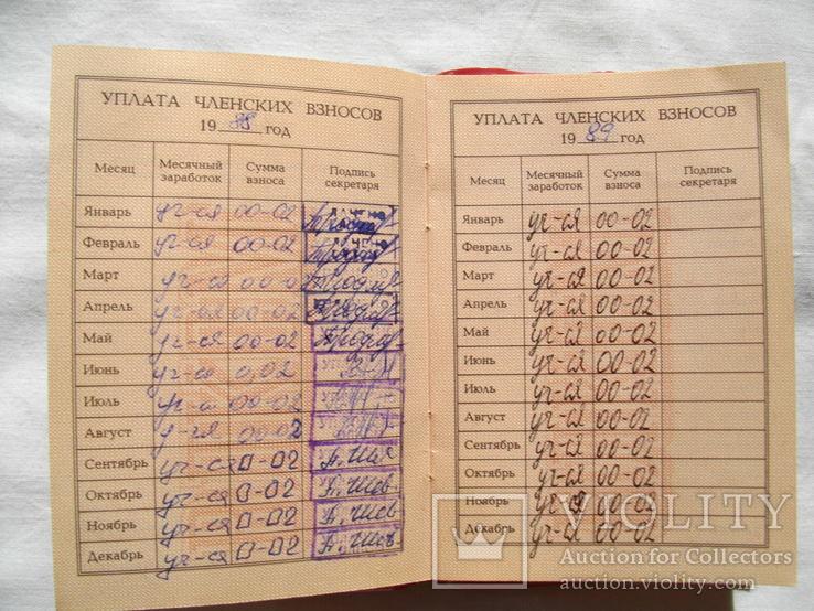 Комсомольский билет № 92706751 от 26.12.87г, фото №4