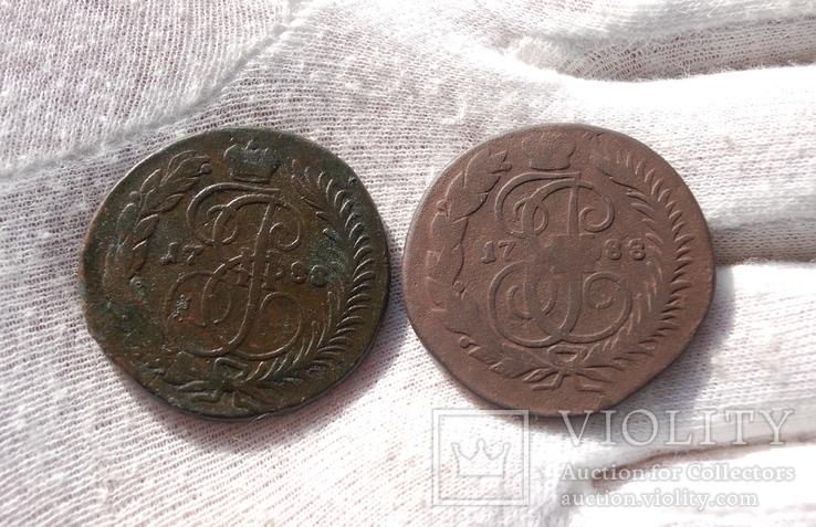 2 копейки 1788 г. СПМ и  ММ, фото №2