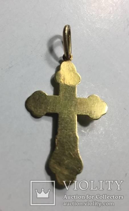 Крестик нательный . Проба 900 золото, фото №3