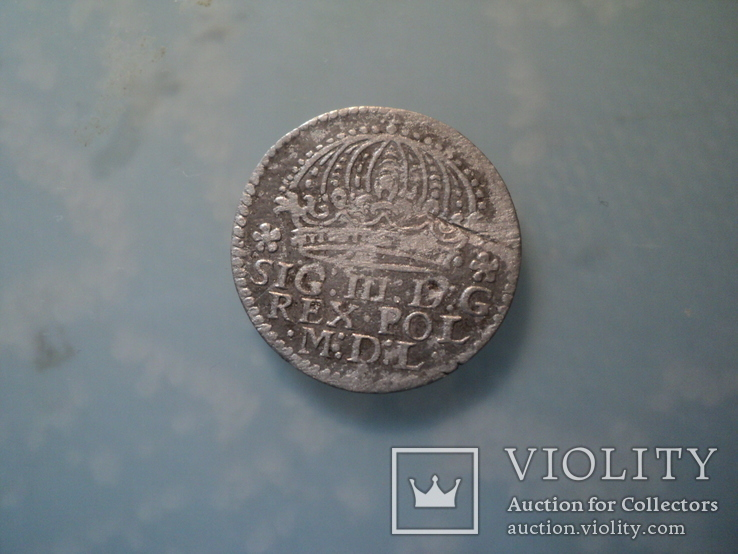 Грош коронный 1610 г, фото №2