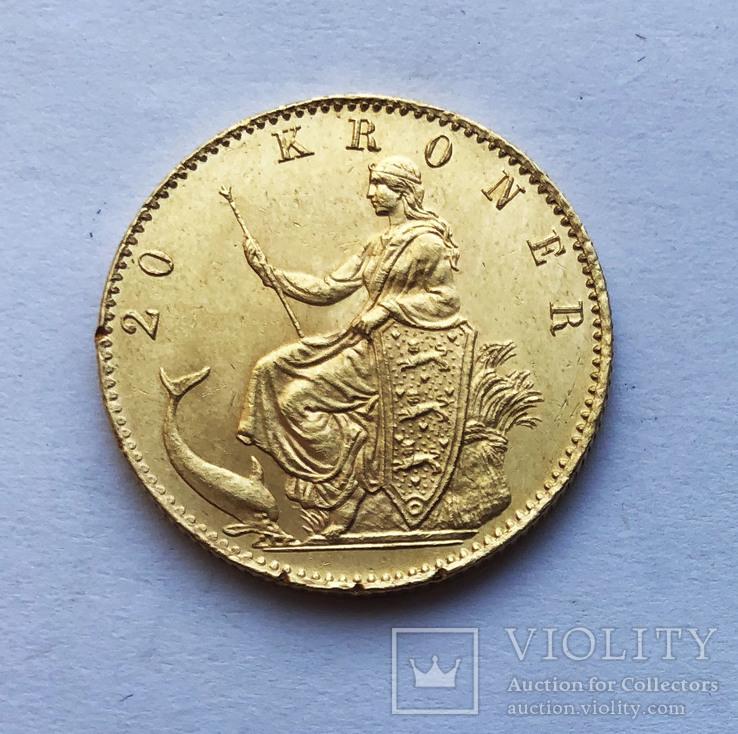 20 крон 1873 года. Дания.