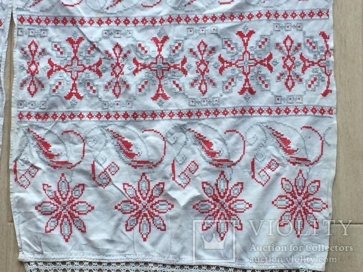 Старинный рушник с петухами, фото №5