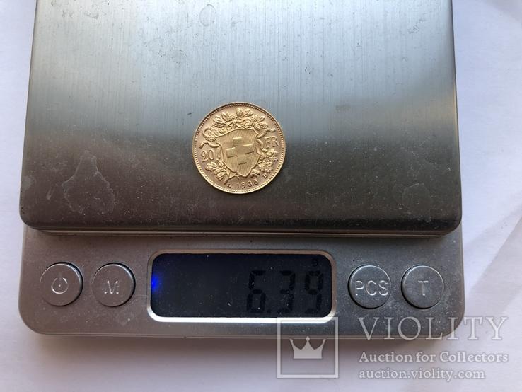20 франков 1935 года. Швейцария. UNC., фото №5