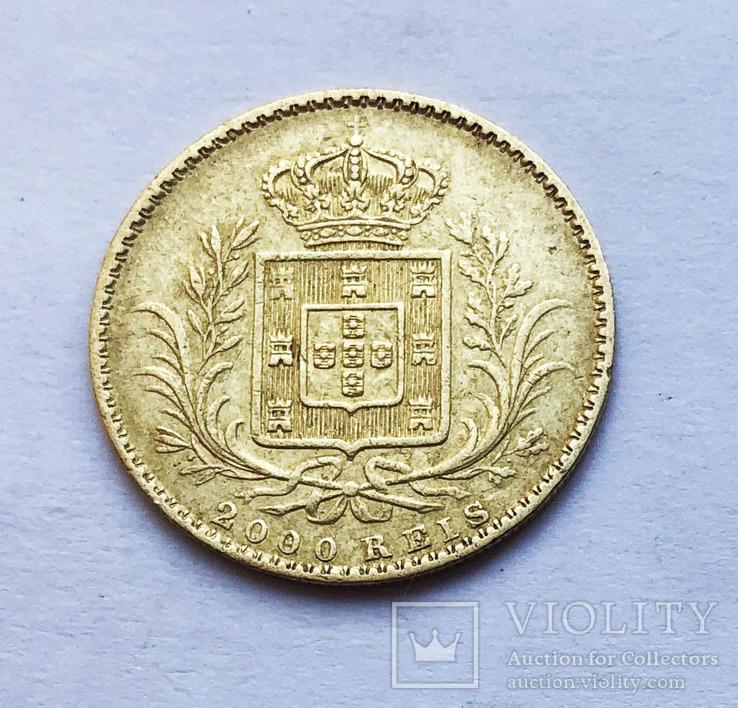 2000 реалов 1865 года. Португалия.