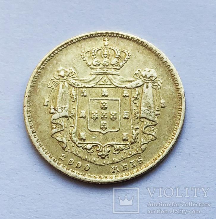 2000 реалов 1857 года. Португалия.