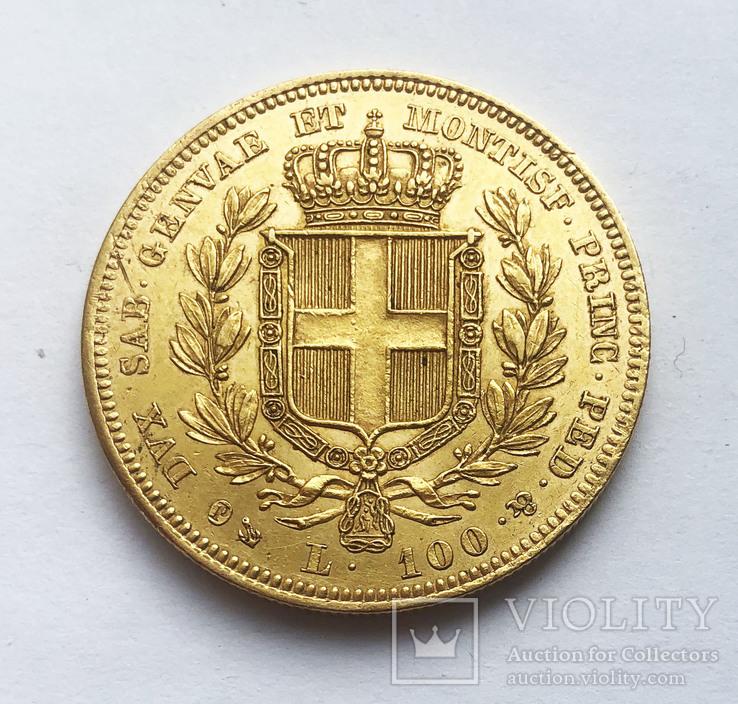100 лир 1836 года. Сардиния.