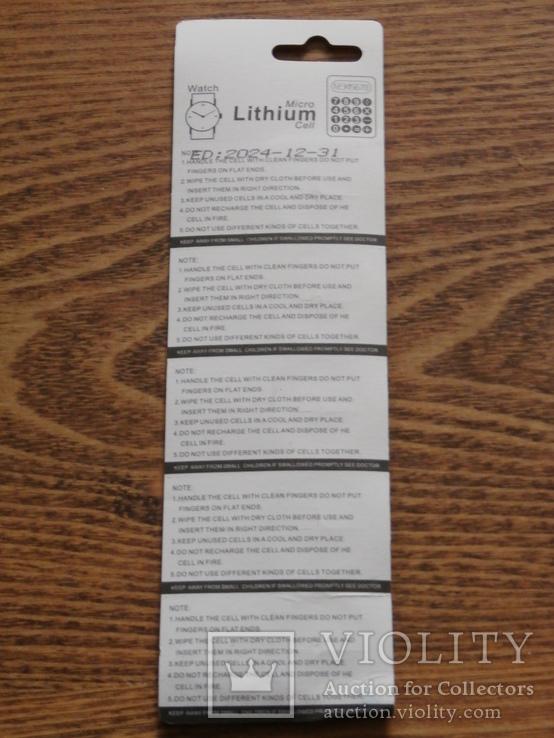 Батарейка CR2025 3v Suncom Lithium Battery Блистер 5 батереек, фото №3