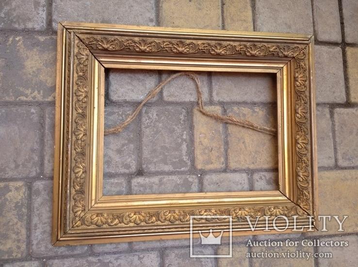 Старая рамка 31 х 21 см.,позолота., фото №3