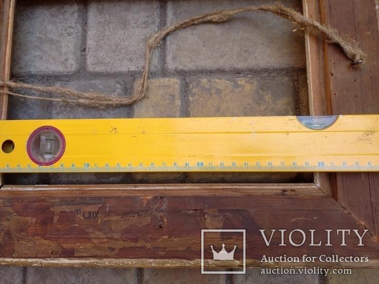 Старая рамка 31 х 21 см.,позолота., фото №6