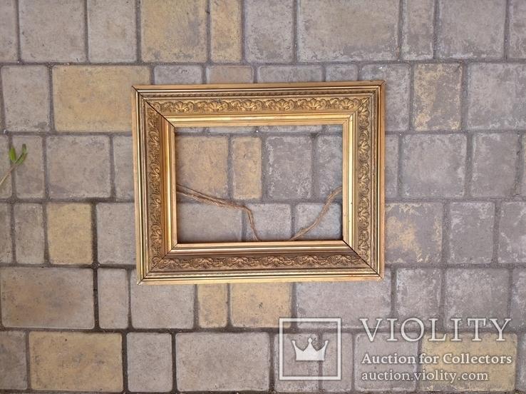 Старая рамка 31 х 21 см.,позолота., фото №7