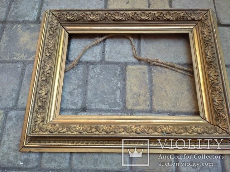 Старая рамка 31 х 21 см.,позолота., фото №9