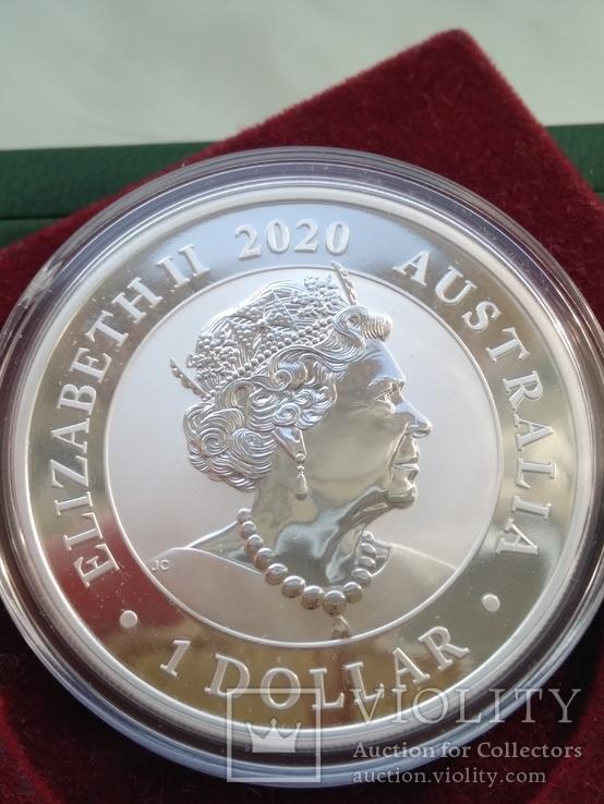 Лебедь Австралии 2020г 1унц 999 серебро Swan Лебідь Австралії Австралия 1 долар, фото №3