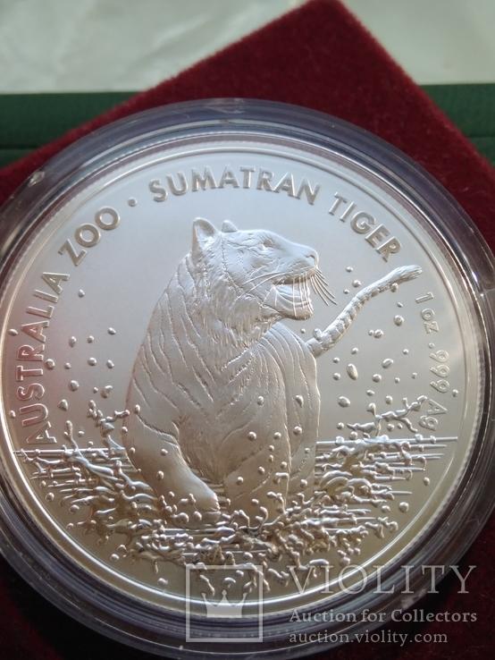 Тигр Суматры Суматранский тигр . Австралия 2020 год . 1 доллар. Первая в серии, фото №2