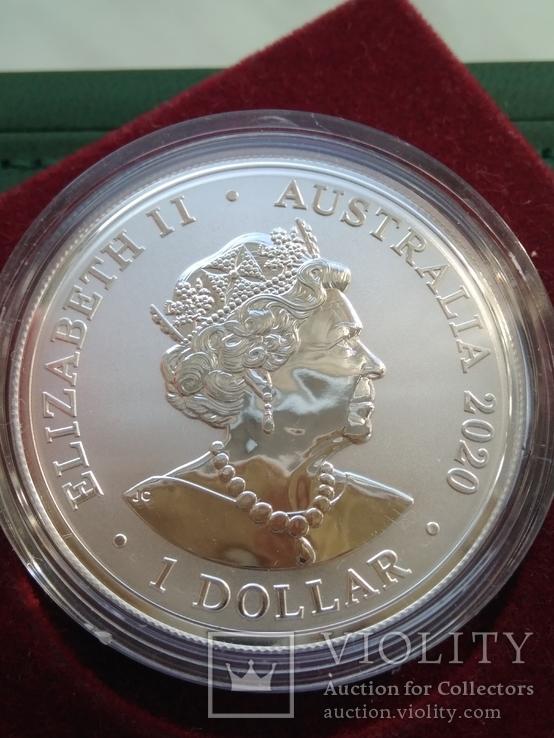 Тигр Суматры Суматранский тигр . Австралия 2020 год . 1 доллар. Первая в серии, фото №3