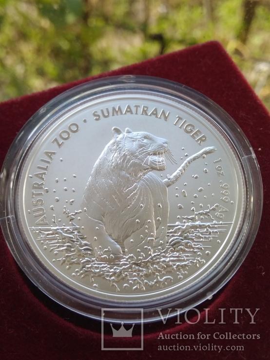 Тигр Суматры Суматранский тигр . Австралия 2020 год . 1 доллар. Первая в серии, фото №4