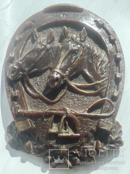Панно  лошади подкова, фото №3
