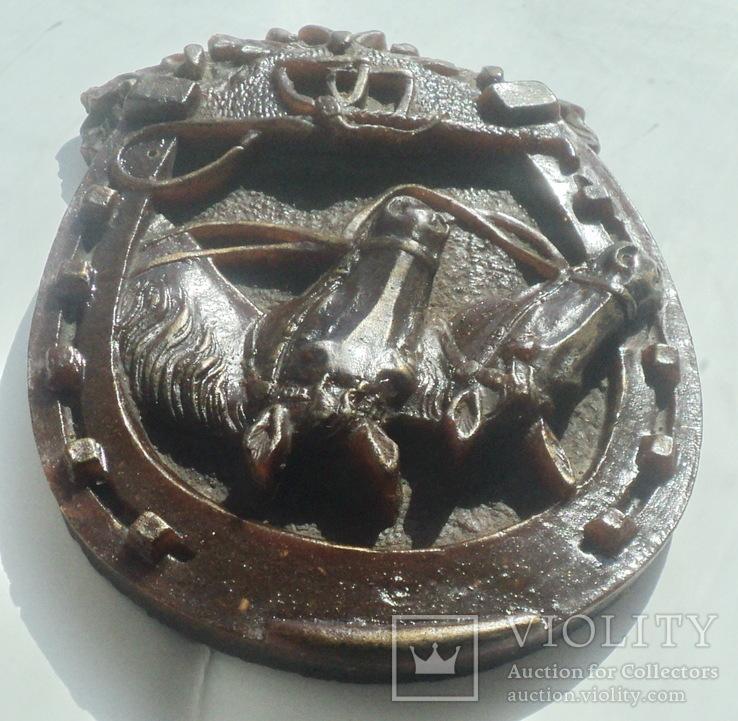 Панно  лошади подкова, фото №5