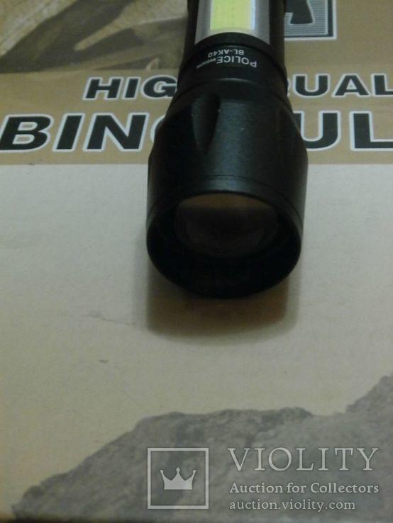 Тактический Аккумуляторный фонарь Police 99000W BL-AK-40 ZOOM, фото №4