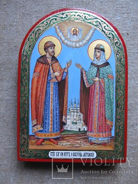 Икона святые благоверные князь Петр и княгиня Феврония Муромские., фото №2
