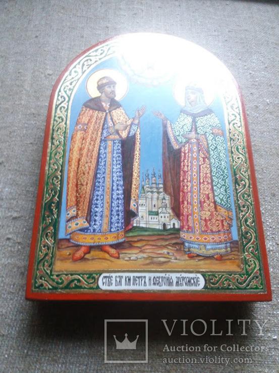 Икона святые благоверные князь Петр и княгиня Феврония Муромские., фото №6