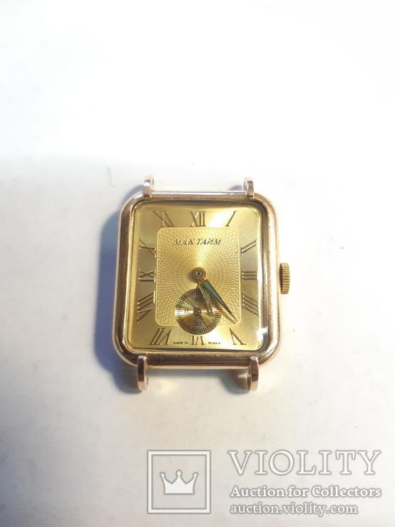 Часы золотые Мак Тайм, фото №2
