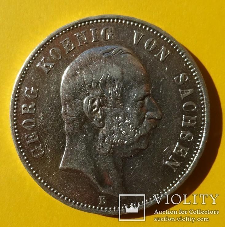 5 марок, Саксония, 1903 год., фото №2