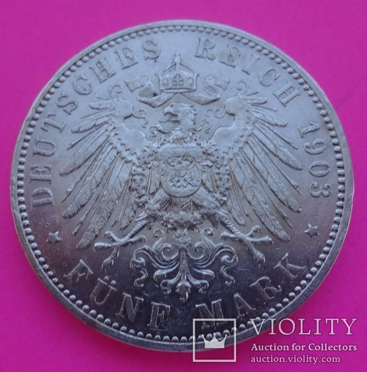 5 марок, Саксония, 1903 год., фото №4