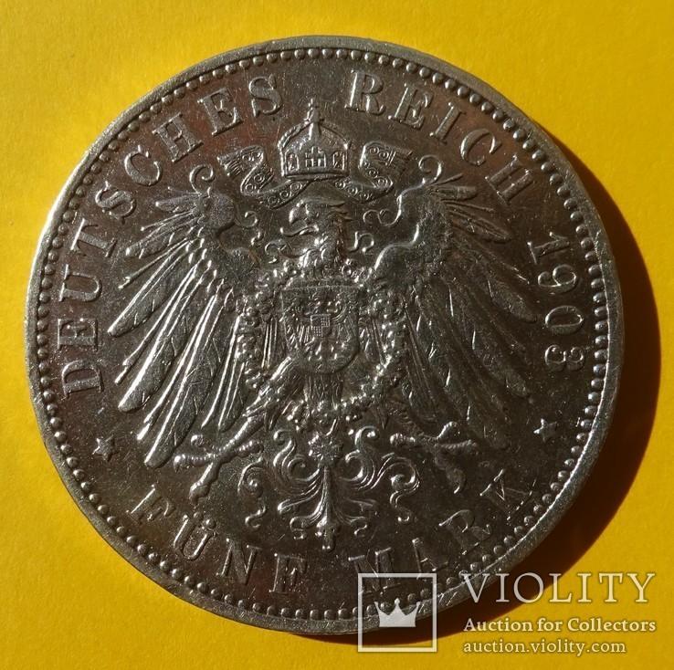 5 марок, Саксония, 1903 год., фото №5